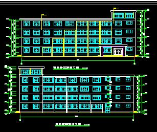 五层框架结构辅助教学楼建筑结构施工图纸