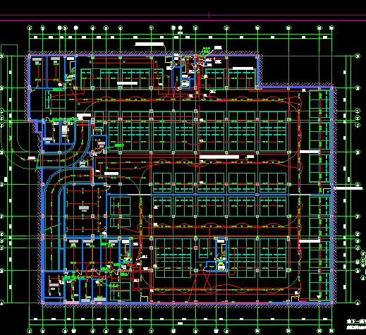 某办公楼及人防地下室建筑新濠天地官方网图(含建筑、结构、暖通、给排水、电气)1