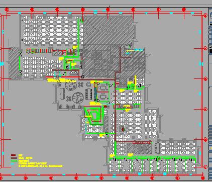 办公楼装修改造项目机电施工图纸(含消防、暖通、给排水)