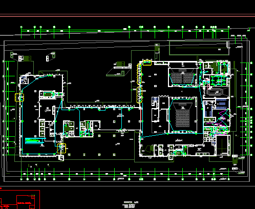 六层酒店公寓楼盘全套施工图(电气、给排水、暖通)