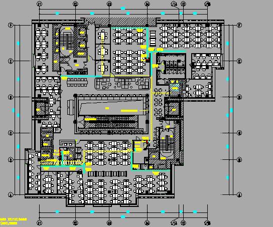广场四层办公楼机电设备施工图纸(给排水、暖通、电气)