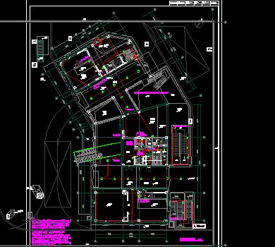 商业办公楼项目机电设备施工图纸(电气、暖通、给排水、电气计算书)