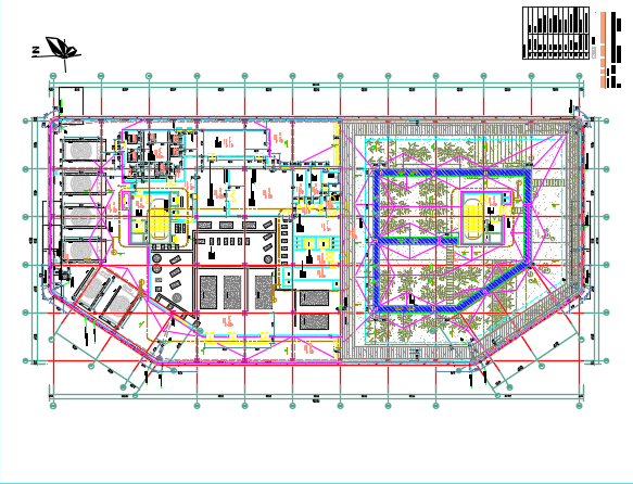 高层私立医院全套施工图纸(含建筑结构水电暖)