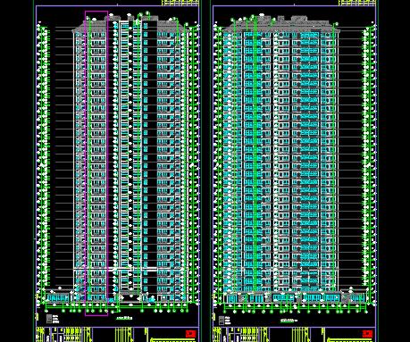 某住宅小区住宅楼及其配套建筑结构施工图纸(含建筑结构、水电暖)