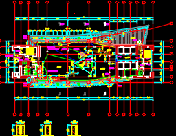大型演播室建筑施工图纸(含结构水电暖)