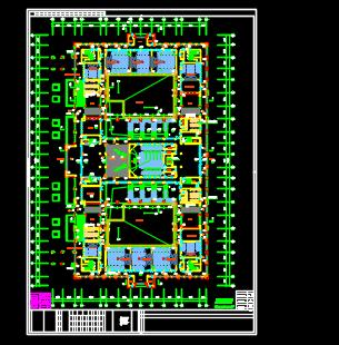 九层图书馆主楼群建筑施工图纸(含建筑结构暖通给排水电气图)