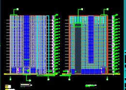 十七层写字楼全套施工图(含建筑结构水电暖通图)