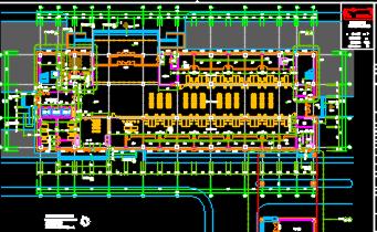 行政综合服务中心建筑施工图纸(含建筑结构水电暖图)