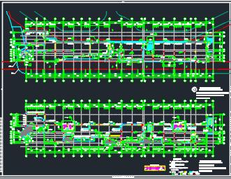 四层商业街全套施工图纸(含建筑结构水电暖通图)