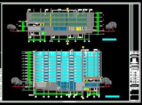 某学校十一层宿舍楼全套施工图(含建筑结构,水电暖)
