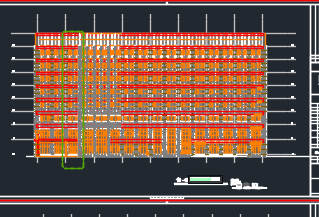 八层后勤服务中心全套施工图(含建筑结构,水电暖)