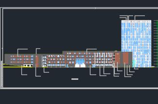 某学校图书馆全套施工图(含建筑结构,水电暖)
