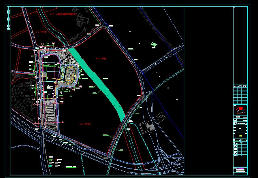 某水上乐园规划总平面图