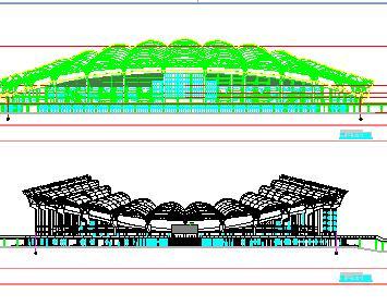 框架及钢结构体育场全套施工图纸(全专业)