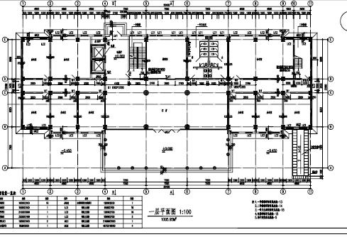 四层框架-剪力墙结构办公楼实训图纸(PDF格式)