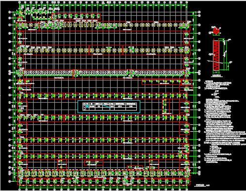 机车联合厂房结构施工图纸