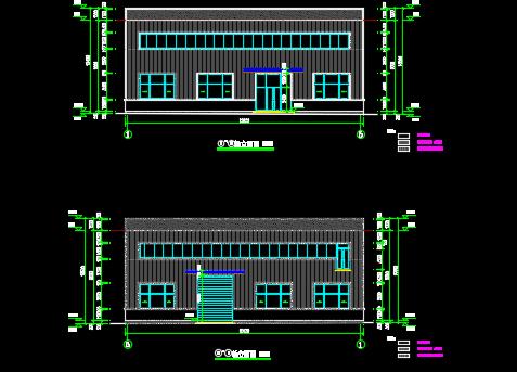 净水厂钢结构车间施工图纸