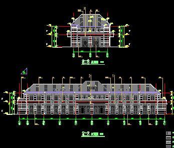 二层商业会所建筑施工图纸