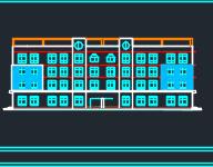 四层幼儿园框架结构教学综合楼建筑施工图纸
