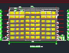 六层钢筋混凝框架结构教工宿舍楼建筑施工图纸(含建筑结构水电暖)
