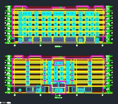 六层框架结构职工宿舍楼建筑施工图纸(含建筑结构水电暖)