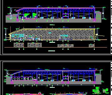 二层异形柱山地体育馆全套施工图纸(建筑结构水电)