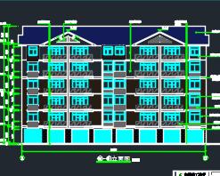 六层框架结构宿舍楼建筑及结构施工图