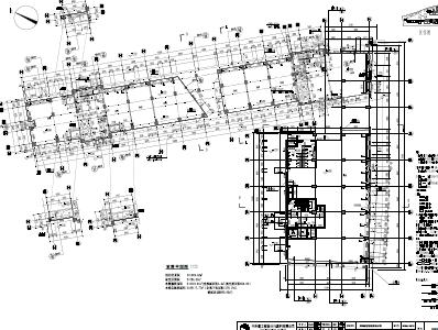 十二层员工宿舍楼框架结构及建筑施工图纸(PDF格式)