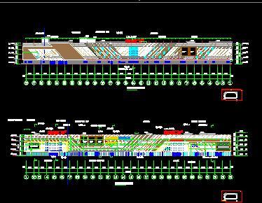 钢混框架结构商业广场建筑结构施工图纸