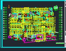 某商业住宅楼人防地下室建筑施工图(含建筑结构水电暖)