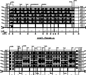 六层教学楼及十二层综合楼建筑施工图纸(PDF格式)