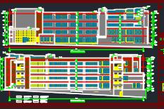 某学校四层教学楼建筑施工图纸(含建筑结构水电暖)