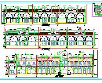 二层商业街楼群建筑结构施工图纸(框架结构)