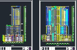 二十一层办公楼建筑及结构施工图纸