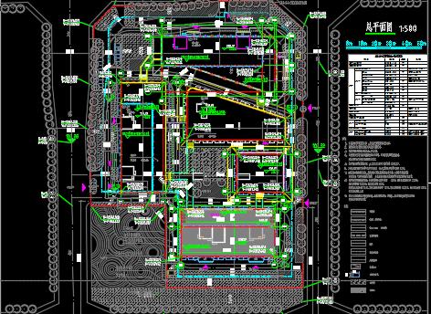 某商业中心全套施工图纸(含建筑结构水暖电)