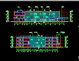 三层框架结构幼儿园全套施工图纸(含建筑结构水电暖)