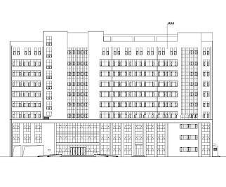 十层框剪结构医院康复楼全套施工图纸(全专业)