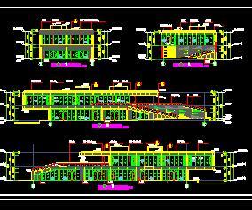 二层框架结构沿街商业楼群全套施工图纸上(全专业)