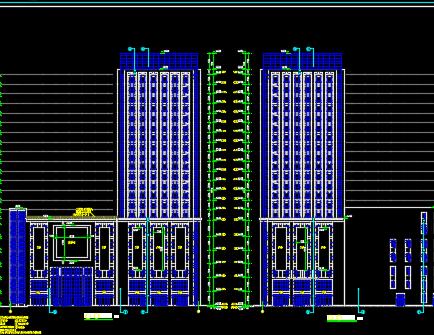 某高层商业综合体全套施工图纸(含建筑结构水电暖)