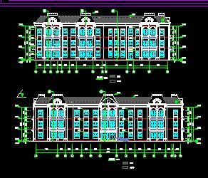 三层框架结构幼儿园全套施工图纸(建筑结构水电)
