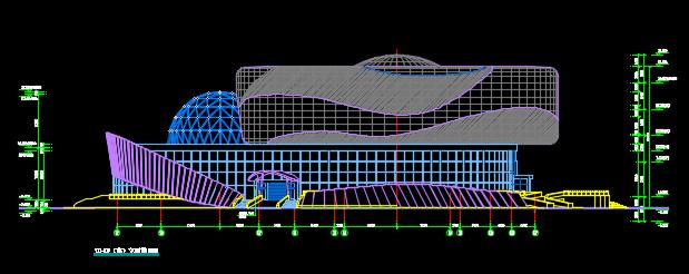 四层科技馆建筑施工图纸