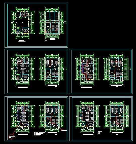 办公楼设计图纸免费下载 - 建筑户型平面图 - 土木