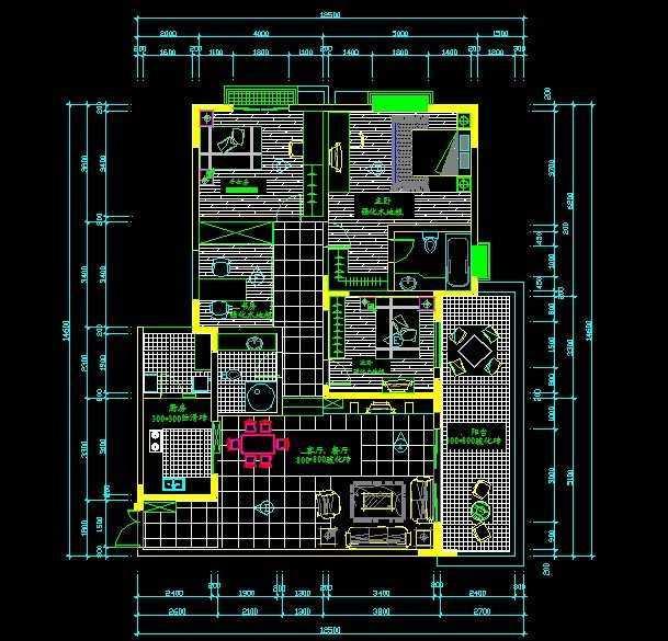 住宅平面设计图免费下载 - 建筑户型平面图 - 土木