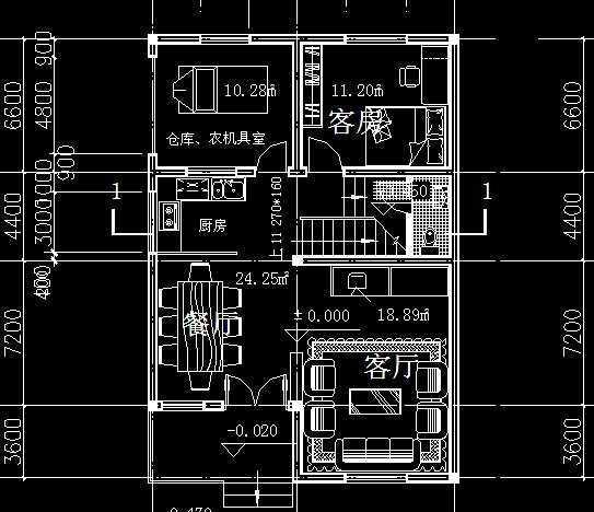 农村住宅建筑施工设计图免费下载 - 建筑户型平面图