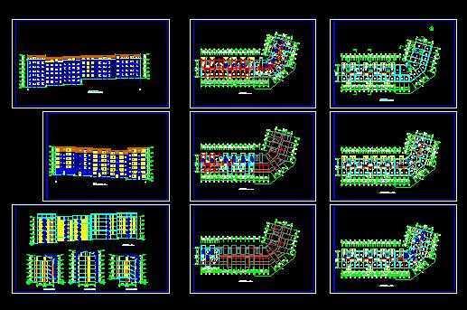 多层转角楼住宅楼设计图