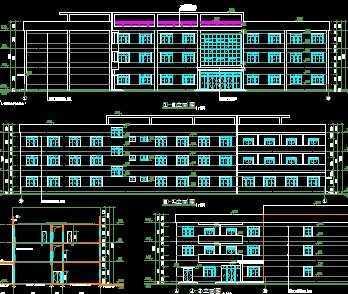 工厂宿舍楼建筑施工图免费下载 - 建筑户型平面图