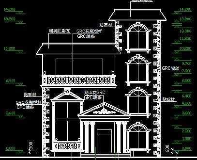 别墅建筑结构施工图纸