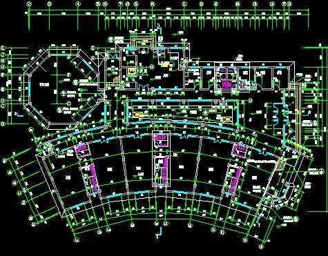 幼兒園設計圖免費下載 - 建筑戶型平面圖 - 土木工程網