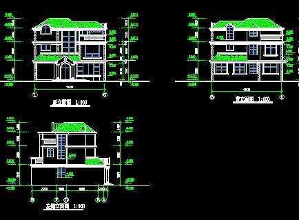 9米三层农村别墅设计图,复式结构美观大气!