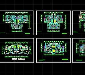 某多层住宅户型平面图免费下载 建筑户型平面图